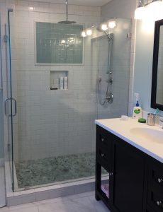 carbide construction glass shower bathroom renovations alexandria